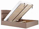 Кровать Richman Оксфорд 140 х 190 см Флай 2213 С подъемным механизмом и нишей для белья Светло-коричневая, фото 7