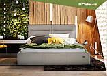 Кровать Richman Оксфорд 140 х 190 см Флай 2213 С подъемным механизмом и нишей для белья Светло-коричневая, фото 10