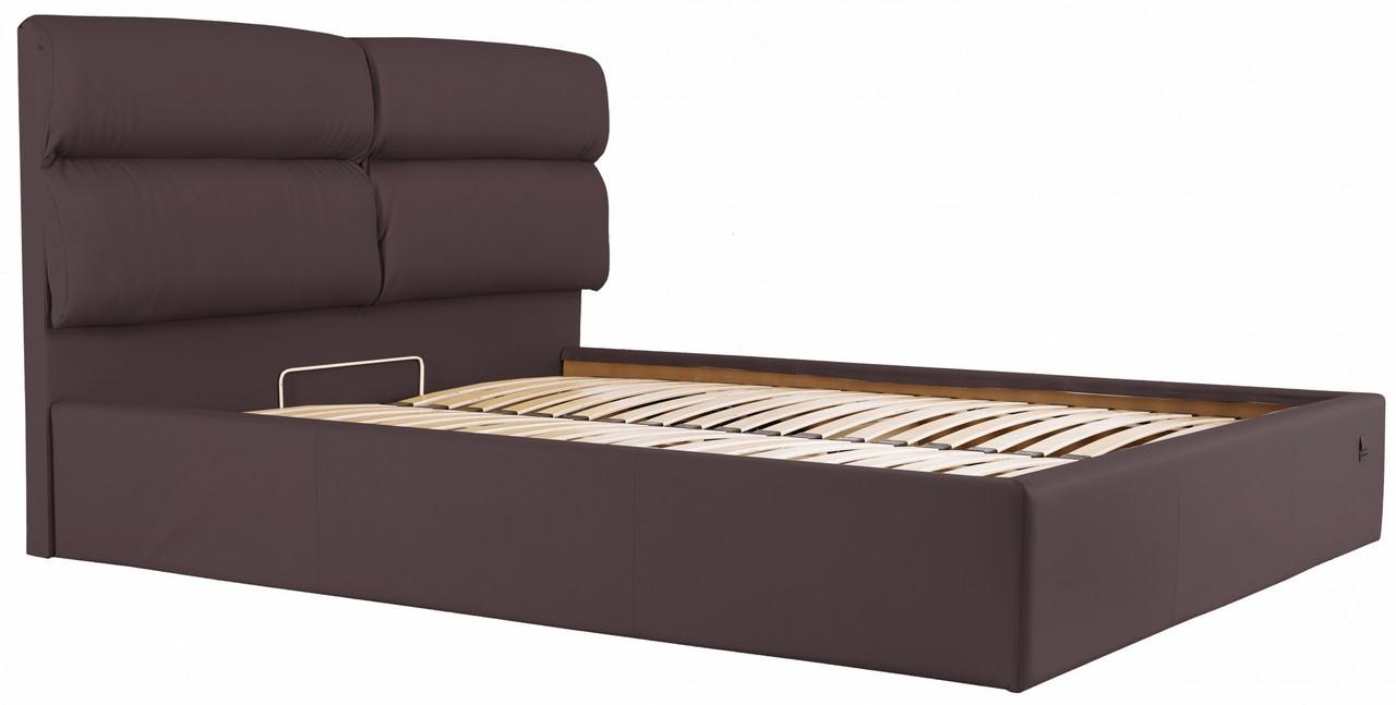 Кровать Richman Оксфорд 140 х 190 см Флай 2231 С подъемным механизмом и нишей для белья Темно-коричневая