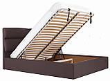 Кровать Richman Оксфорд 140 х 190 см Флай 2231 С подъемным механизмом и нишей для белья Темно-коричневая, фото 7