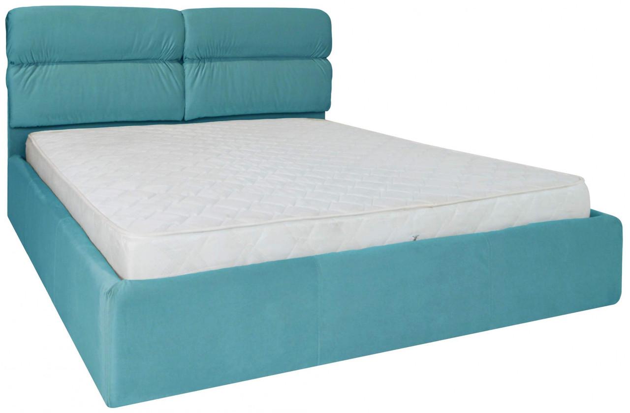 Кровать Oxford Comfort 140 х 200 см Missoni 014 С подъемным механизмом и нишей для белья Голубая