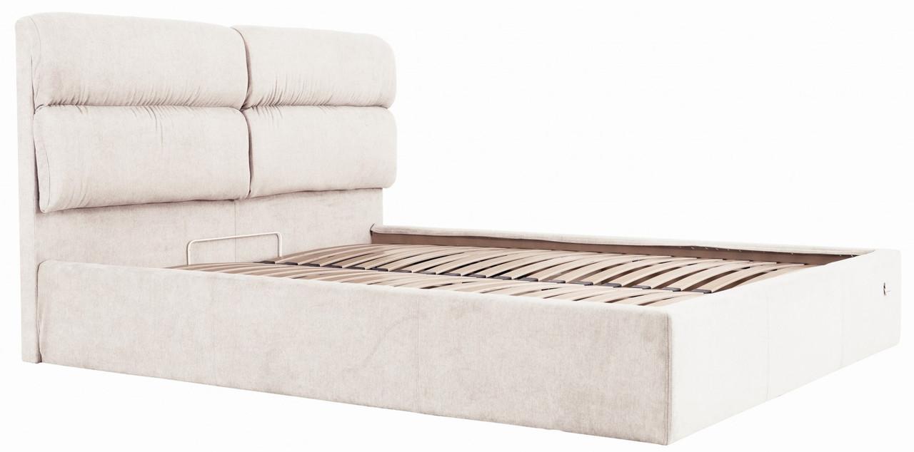 Ліжко Richman Оксфорд 140 х 200 см Місті Milk З підйомним механізмом і нішею для білизни Бежева