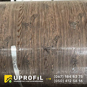 Профнастил под дерево Орех 3д двухсторонний 0.40 мм. для Забора ПС-10, фото 2