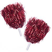 Помпони для черлідингу і танців Pom-Poms CH-4876 (поліестер, пластик, l-38см з ручками, 2шт, 30г, кольори в асортименті)