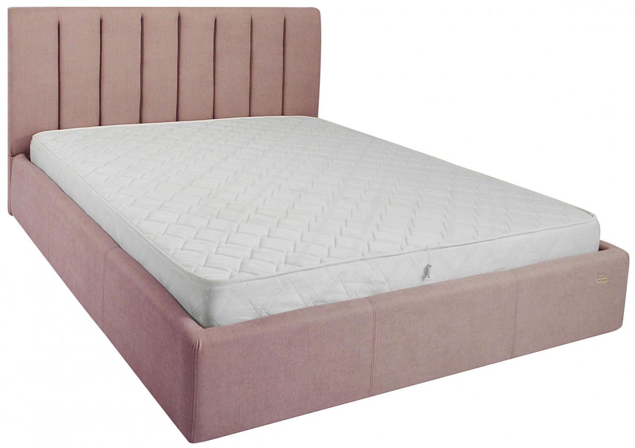 Ліжко Richman Санам 120 х 190 см Missoni 021 З підйомним механізмом і нішею для білизни Темно-рожева