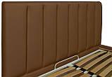 Кровать Richman Санам 120 х 190 см Флай 2213 A1 С подъемным механизмом и нишей для белья Светло-коричневая, фото 3