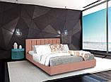 Кровать Richman Санам 120 х 190 см Флай 2213 A1 С подъемным механизмом и нишей для белья Светло-коричневая, фото 8