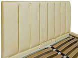 Кровать Richman Санам 120 х 200 см Флай 2207 A1 С подъемным механизмом и нишей для белья Бежевая, фото 3