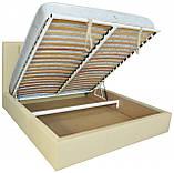 Кровать Richman Санам 120 х 200 см Флай 2207 A1 С подъемным механизмом и нишей для белья Бежевая, фото 4