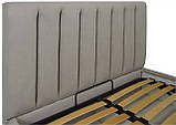 Кровать Richman Санам 140 х 190 см Fibril 06 Серая, фото 3