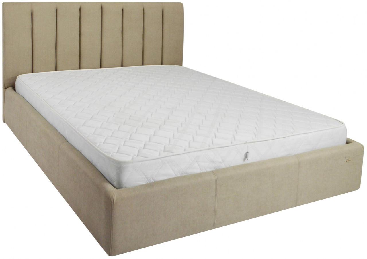 Кровать Richman Санам 140 х 190 см Fibril 10 Темно-бежевая