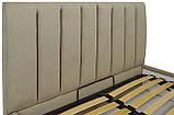 Кровать Richman Санам 140 х 190 см Fibril 10 Темно-бежевая, фото 3