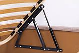Кровать Richman Санам 140 х 190 см Лаки White С подъемным механизмом и нишей для белья Белая, фото 4