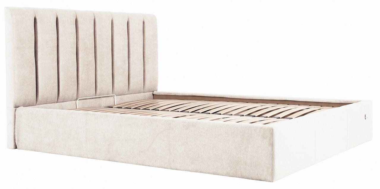 Кровать Richman Санам 140 х 190 см Мисти Milk С подъемным механизмом и нишей для белья Бежевая