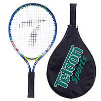Ракетка для большого тенниса TELOON 2553-17 (алюминий, 17 дюймов, синий), фото 1
