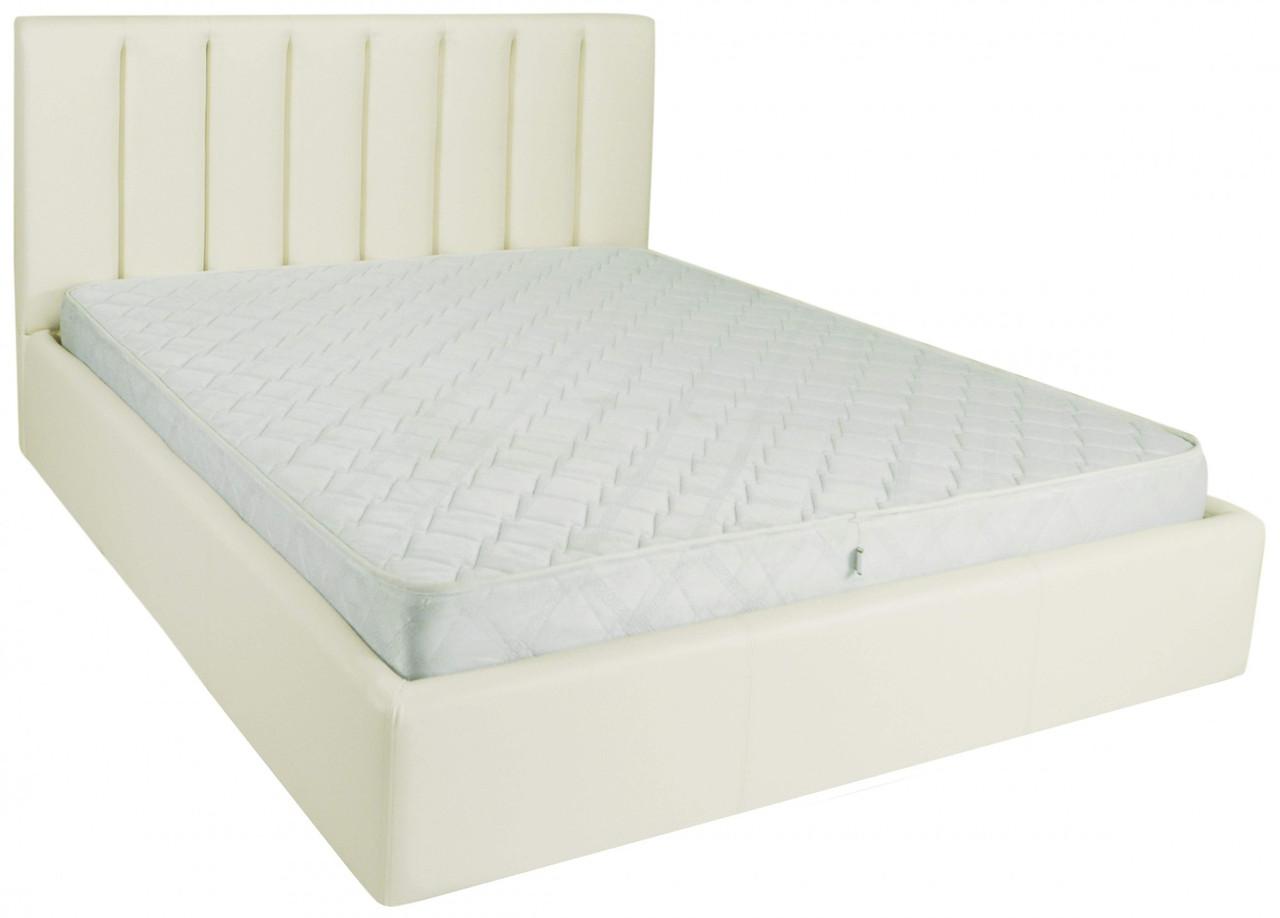 Ліжко Richman Санам 140 х 200 см Флай 2200 A1 З підйомним механізмом і нішею для білизни Біла