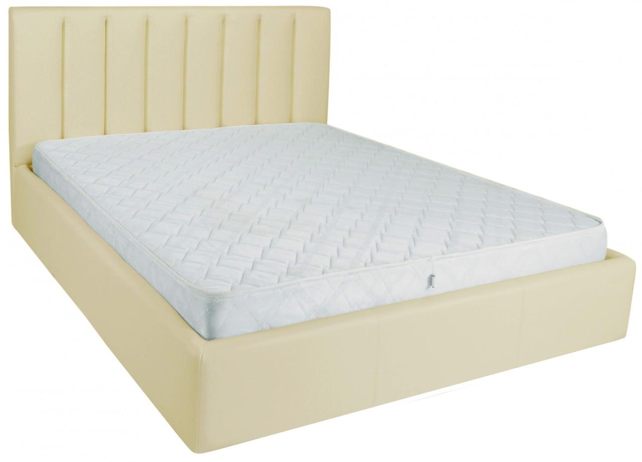 Ліжко Richman Санам 140 х 200 см Флай 2207 A1 З підйомним механізмом і нішею для білизни Бежева