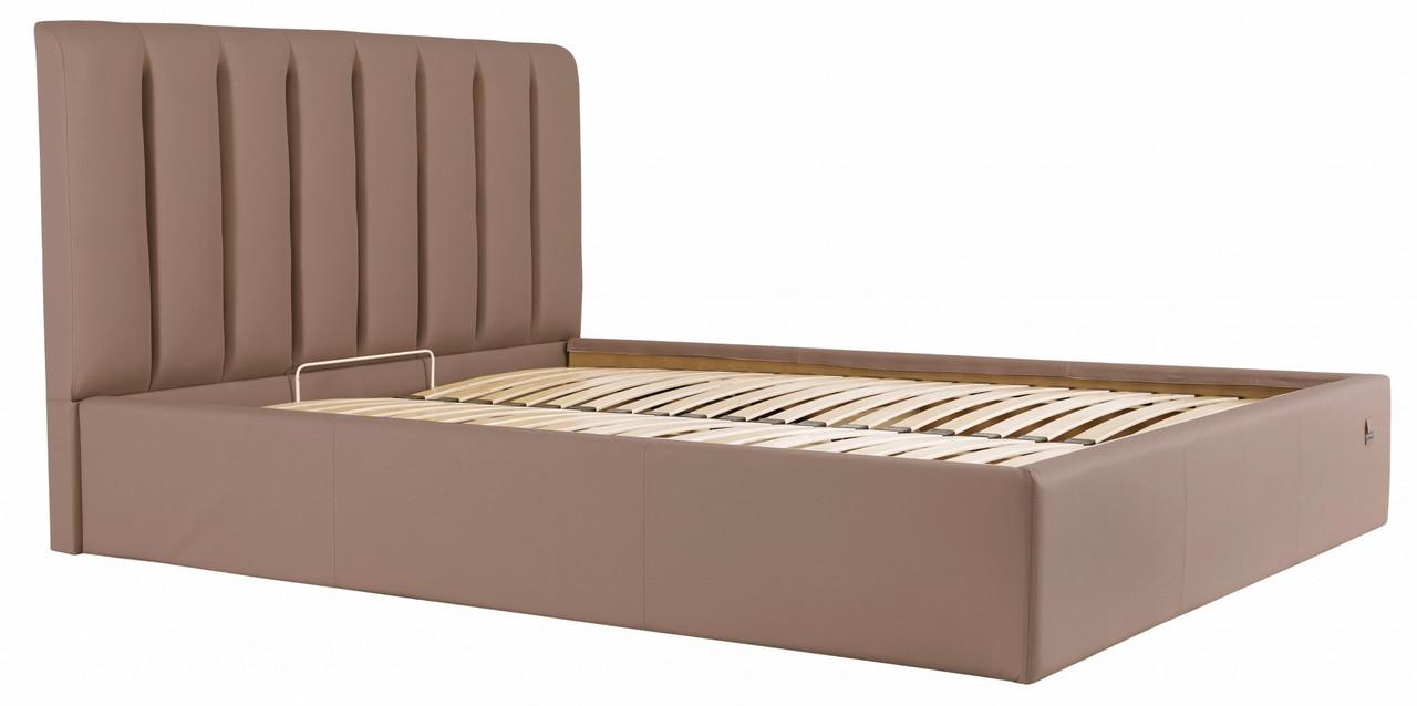 Ліжко Richman Санам 140 х 200 см Флай 2213 З підйомним механізмом і нішею для білизни Світло-коричнева