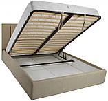 Кровать Двуспальная Richman Санам 160 х 190 см Fibril 10 С подъемным механизмом и нишей для белья, фото 4