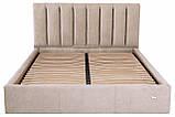 Кровать Двуспальная Sanam Comfort 160 х 190 см Мисти Mocco С подъемным механизмом и нишей для белья Серая, фото 2