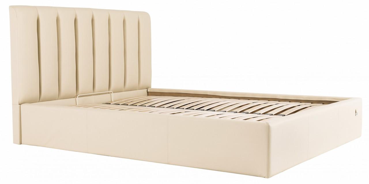 Кровать Двуспальная Richman Санам 160 х 190 см Флай 2207 С подъемным механизмом и нишей для белья Бежевая