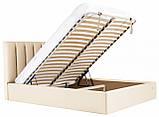 Кровать Двуспальная Richman Санам 160 х 190 см Флай 2207 С подъемным механизмом и нишей для белья Бежевая, фото 7