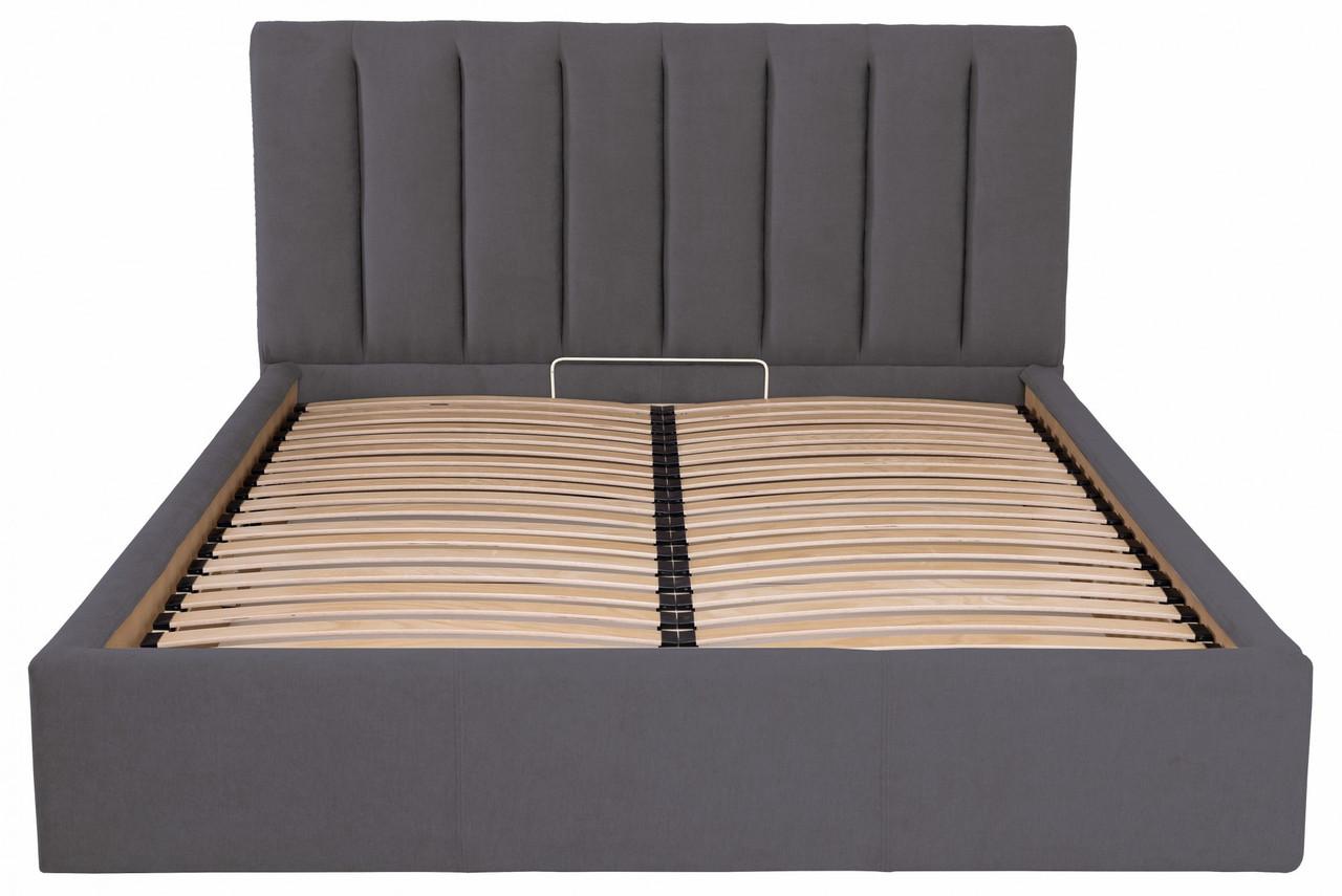 Кровать Двуспальная Richman Санам 160 х 200 см Мисти Dark Grey С подъемным механизмом и нишей для белья