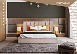 Кровать Двуспальная Richman Санам 160 х 200 см Мисти Dark Grey С подъемным механизмом и нишей для белья, фото 9
