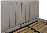 Кровать Двуспальная Richman Санам 180 х 190 см Fibril 06 С подъемным механизмом и нишей для белья Серая, фото 3