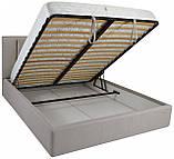 Кровать Двуспальная Richman Санам 180 х 190 см Fibril 06 С подъемным механизмом и нишей для белья Серая, фото 4