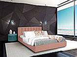 Кровать Двуспальная Richman Санам 180 х 190 см Fibril 06 С подъемным механизмом и нишей для белья Серая, фото 8