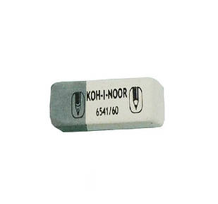 Резинка Koh-i-Noor бело-серая 80шт / уп, 6541/80