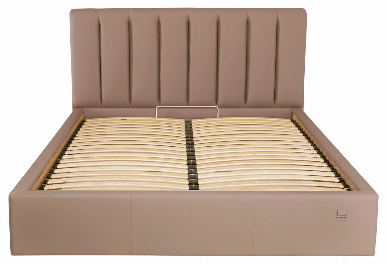 Кровать Двуспальная Sanam Standart 180 х 190 см Флай 2213 Светло-коричневая