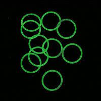 Водонепроницаемые уплотнительные кольца для фонарей (20 x 1.5mm), зеленые светящиеся в темноте