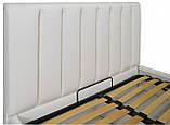 Кровать Двуспальная Richman Санам 180 х 200 см Boom 01 С подъемным механизмом и нишей для белья Белая, фото 3