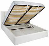 Кровать Двуспальная Richman Санам 180 х 200 см Boom 01 С подъемным механизмом и нишей для белья Белая, фото 4