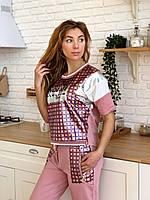 Турецкий розовый спортивный костюм RAW