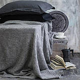 Покрывало вязаное ИНСТА 220х240 серое Vividzone (бесплатная доставка), фото 3