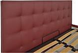 Кровать Richman Честер 120 х 190 см Флай 2223 С подъемным механизмом и нишей для белья Бордовая, фото 3