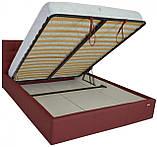 Кровать Richman Честер 120 х 190 см Флай 2223 С подъемным механизмом и нишей для белья Бордовая, фото 4