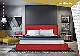 Кровать Richman Честер 120 х 190 см Флай 2223 С подъемным механизмом и нишей для белья Бордовая, фото 8