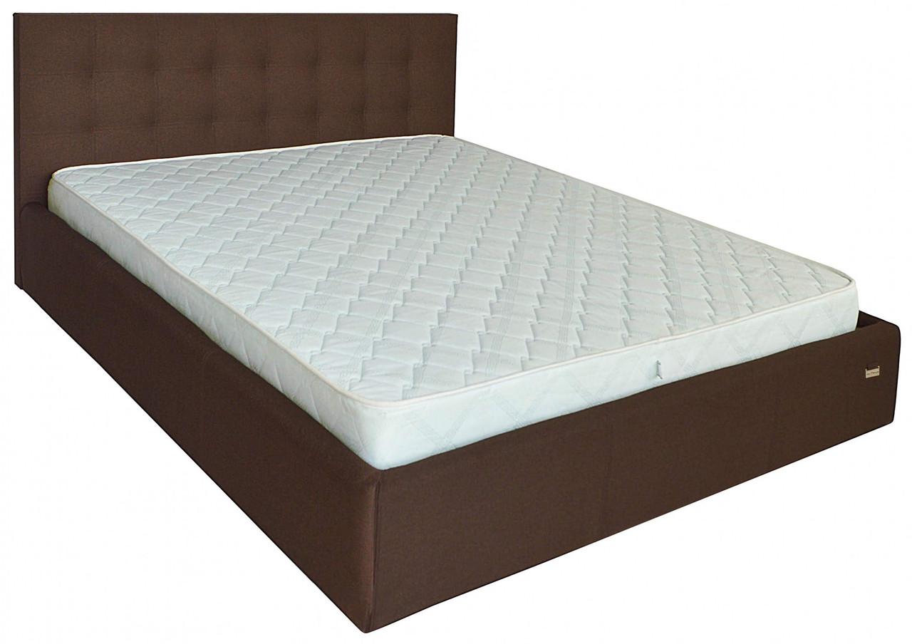 Кровать Chester Comfort 140 х 190 см Etna-027 С подъемным механизмом и нишей для белья Коричневая