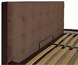 Кровать Richman Честер 140 х 190 см Missoni 011 С подъемным механизмом и нишей для белья Темно-коричневая, фото 3