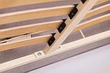 Кровать Richman Честер 140 х 190 см Missoni 011 С подъемным механизмом и нишей для белья Темно-коричневая, фото 6