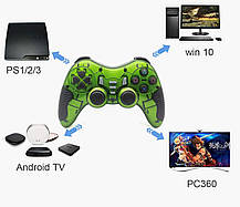 Безпровідний геймпад PS3/PS2/PS1/PC/360/TV 6 в 1, фото 3