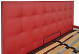 Кровать Richman Честер 140 х 190 см Флай 2210 С подъемным механизмом и нишей для белья Красная, фото 4