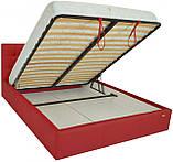 Кровать Richman Честер 140 х 190 см Флай 2210 С подъемным механизмом и нишей для белья Красная, фото 5