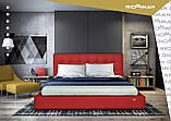 Кровать Richman Честер 140 х 190 см Флай 2231 С подъемным механизмом и нишей для белья Темно-коричневая, фото 10