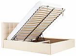 Кровать Двуспальная Richman Честер 160 х 190 см Флай 2207 С подъемным механизмом и нишей для белья Бежевая, фото 8