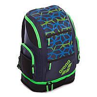 Рюкзак спортивный ARENA AR-001007-706 SPIKY 2 LARGE BACKPACK SPIDER (полиэстер, нейлон, V-40л, р-р 35х23х49см, т.синий-салатовый)